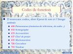 codes de fonction1