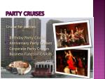 party cruises