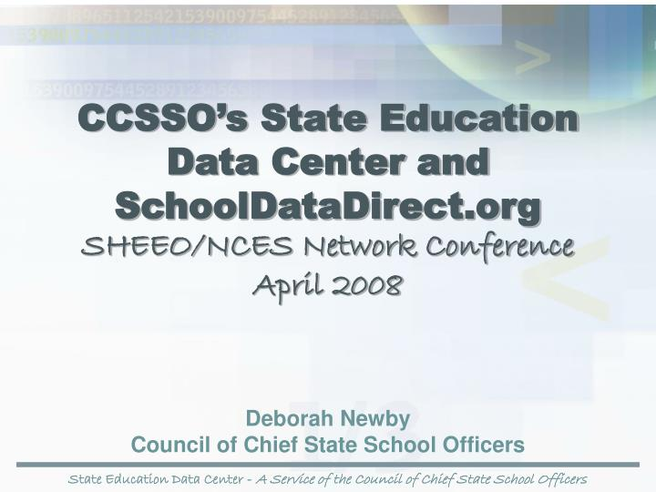 CCSSO's State Education
