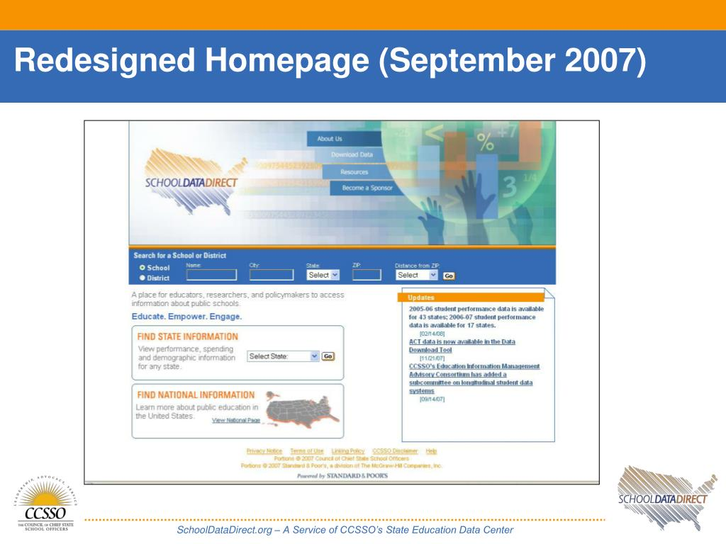 Redesigned Homepage (September 2007)