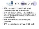 spa protects ohsu