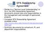 spa stewardship agreement