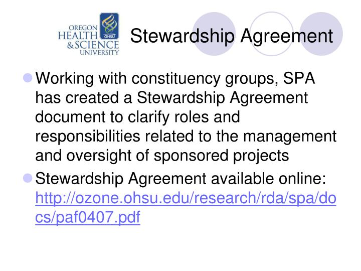 Stewardship Agreement