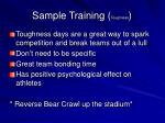 sample training toughness