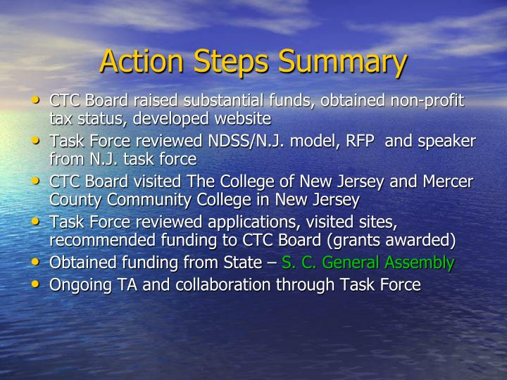 Action Steps Summary