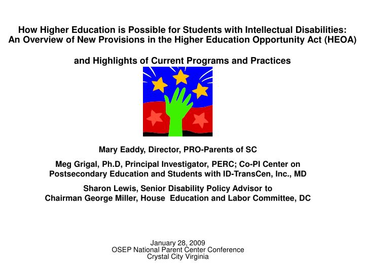How Higher Education is Possible for Students with Intellectual Disabilities: