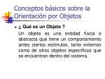 conceptos b sicos sobre la orientaci n por objetos