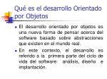qu es el desarrollo orientado por objetos