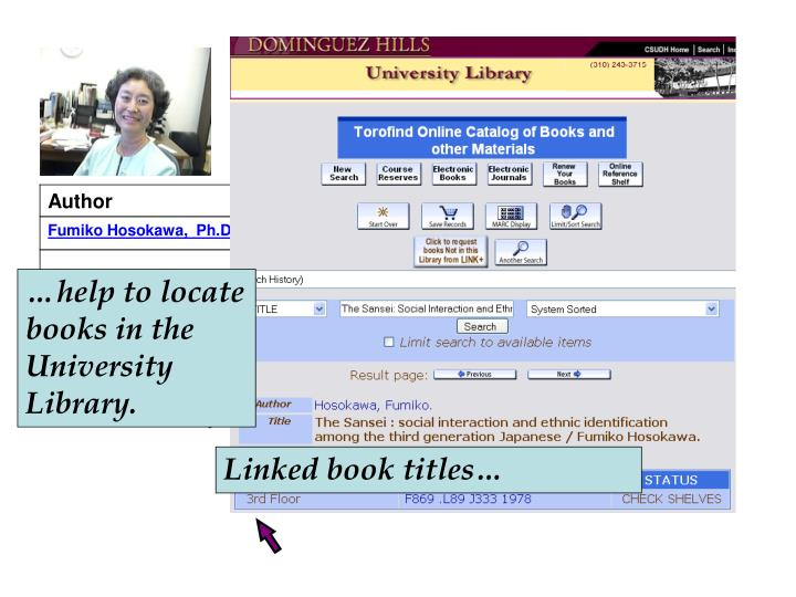 …help to locate books in the University Library.