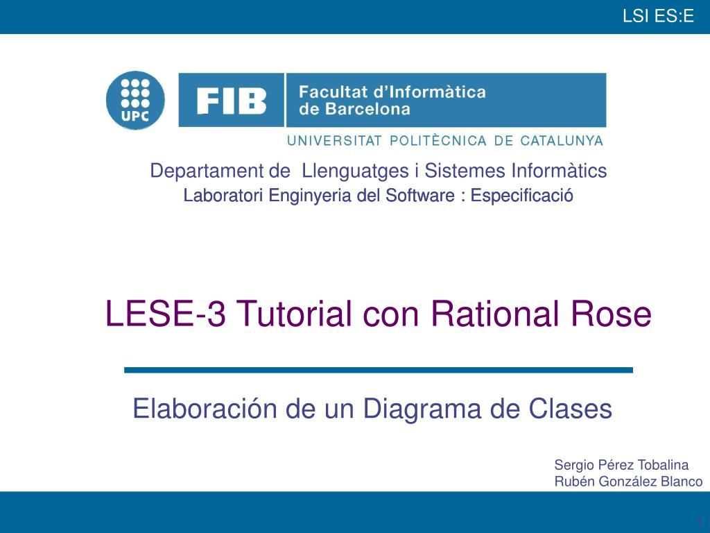lese 3 tutorial con rational rose l.