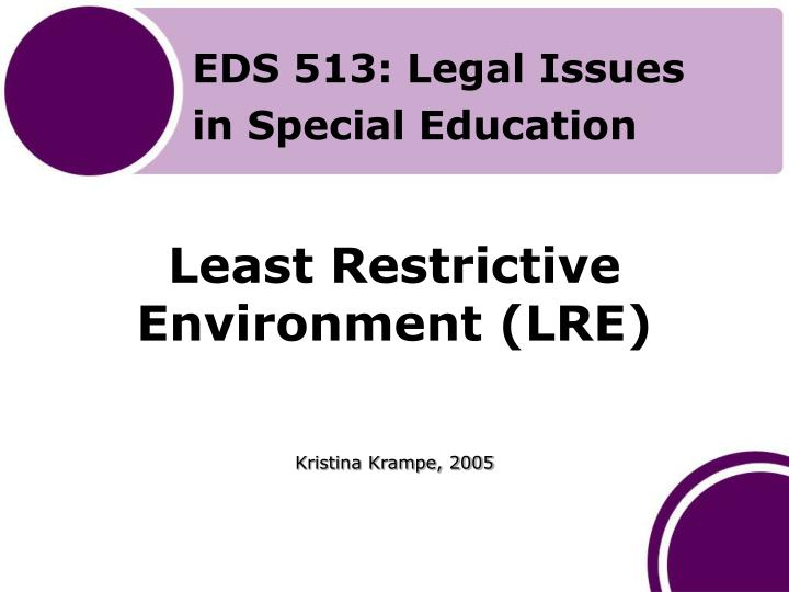least restrictive environment lre n.