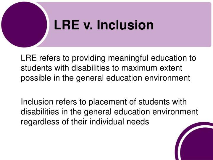 Lre v inclusion