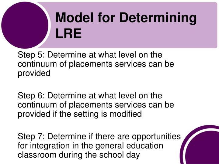 Model for Determining LRE