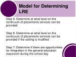 model for determining lre1