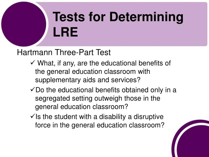 Tests for Determining LRE