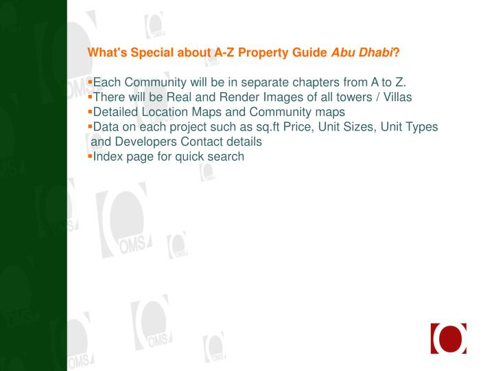 What's Special about A-Z Property Guide