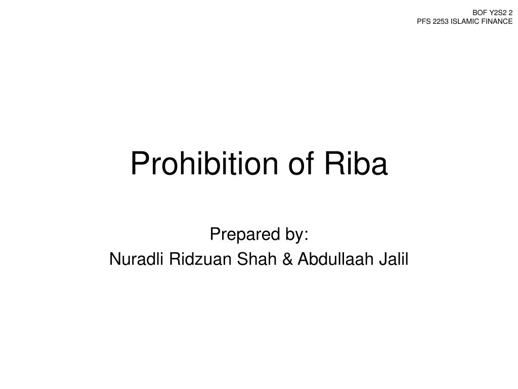 prohibition of riba l.