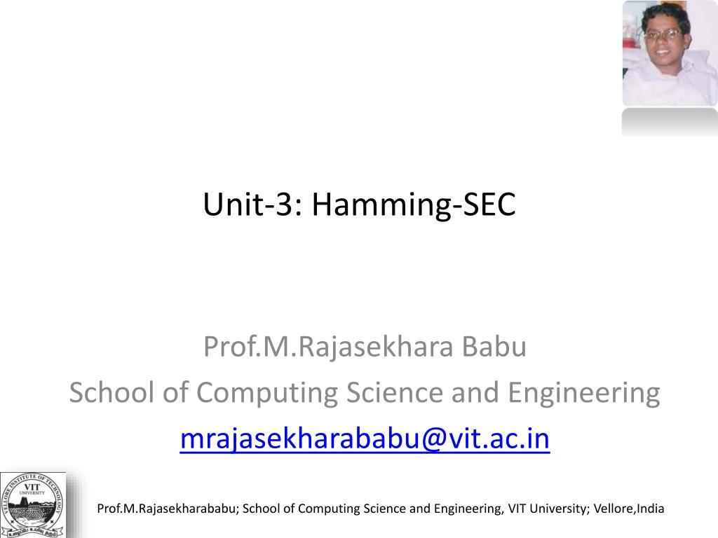 unit 3 hamming sec l.