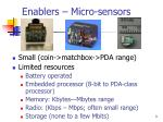 enablers micro sensors