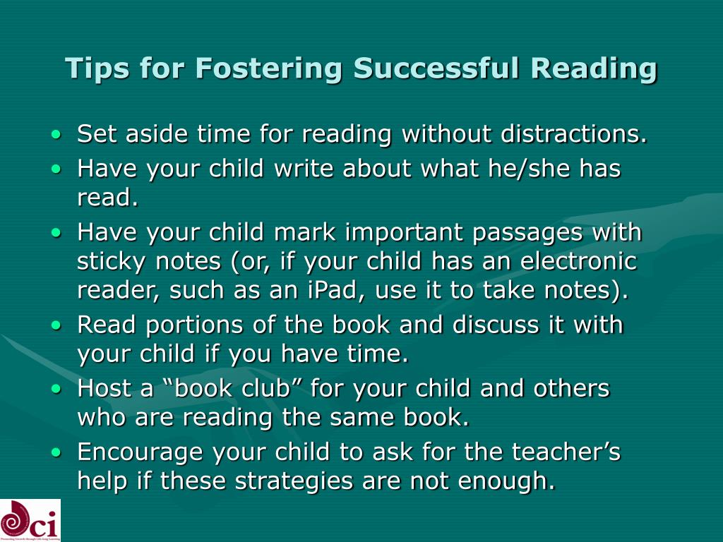 Tips for Fostering Successful Reading