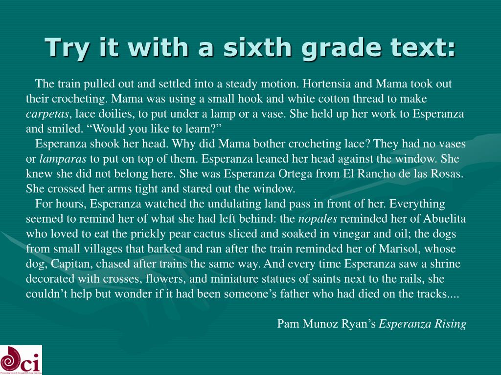 Try it with a sixth grade text: