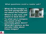 what questions could a reader ask21