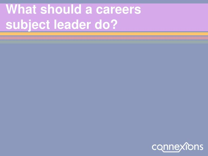 What should a careers