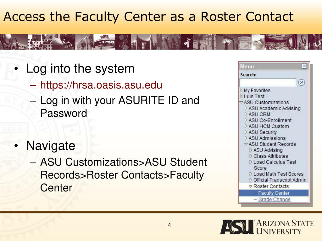 Access the Faculty Center as a Roster Contact