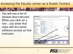 accessing the faculty center as a roster contact