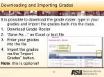 downloading and importing grades