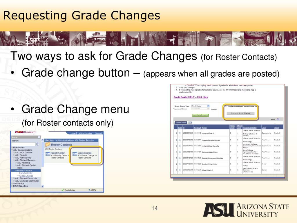 Requesting Grade Changes