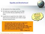 equality and brotherhood