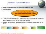 prophet s formula of success