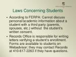 laws concerning students