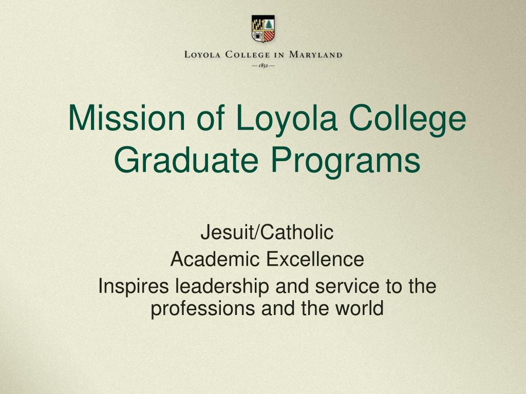 Mission of Loyola College
