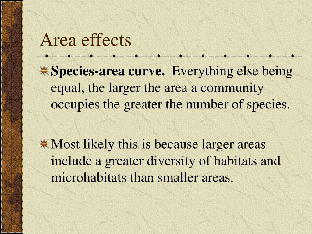 Area effects