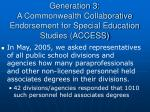 generation 3 a commonwealth collaborative endorsement for special education studies access