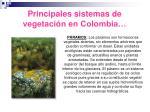principales sistemas de vegetaci n en colombia19