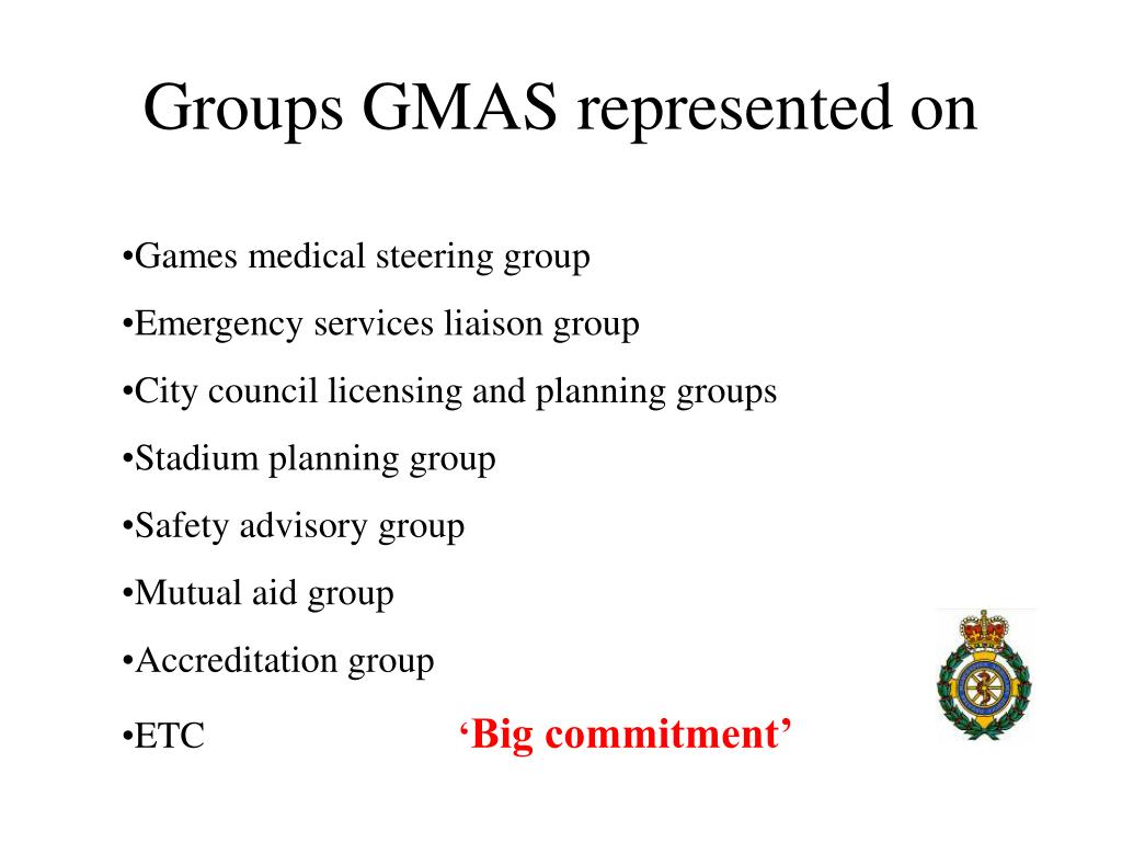 Groups GMAS represented on