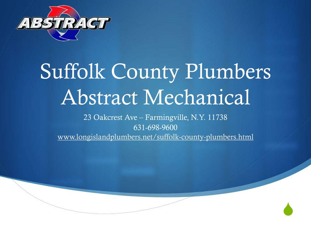 suffolk county plumbers abstract mechanical l.