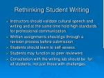 rethinking student writing