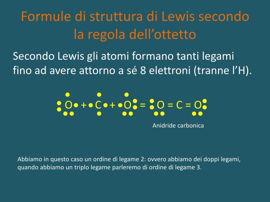 formule di struttura di lewis secondo la regola dell ottetto l.