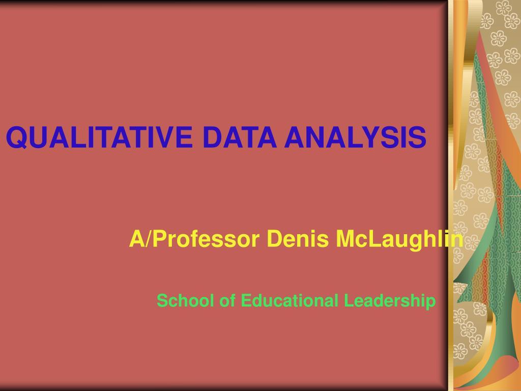 qualitative data analysis l.
