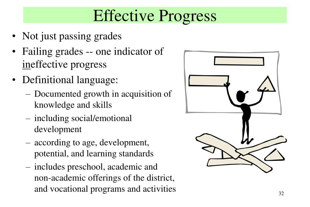 Effective Progress