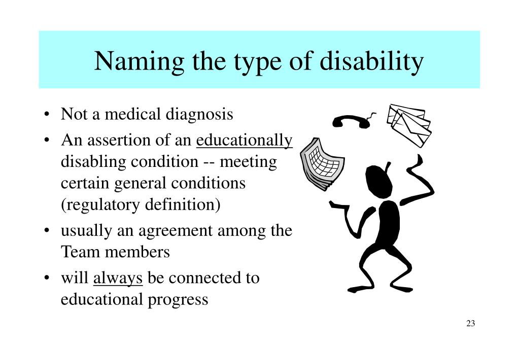 Naming the type of disability