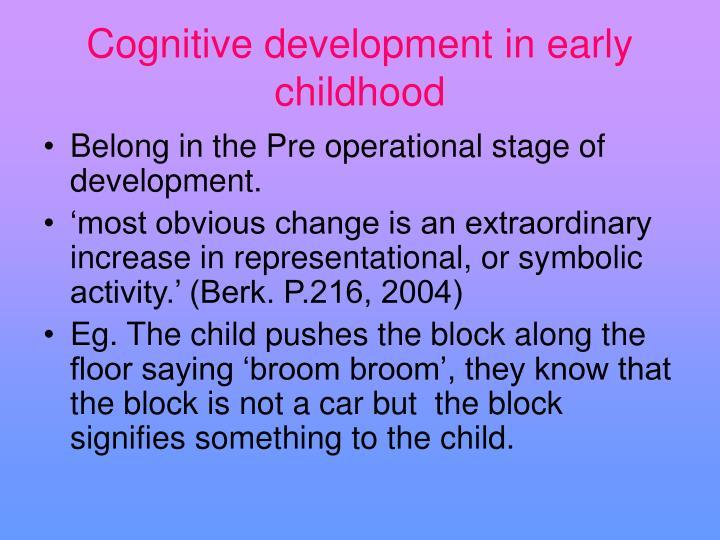 cognitive development in early childhood