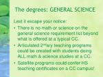 the degrees general science19
