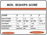mod bishops score