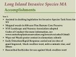 long island invasive species ma accomplishments16