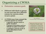 organizing a cwma36